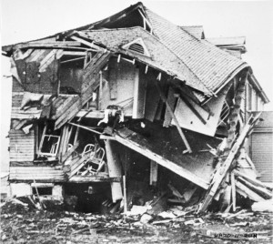 Unalaska's Bureau of Indian Affairs hospital was bombed by the Japanese during World War II. (Courtesy: National Library of Medicine)