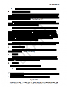 Redacted page in the investigation report.