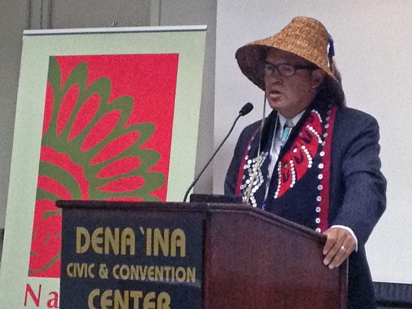 NCAI president Brian Cladoosby. (Photo by Lori Townsend, APRN - Anchorage)