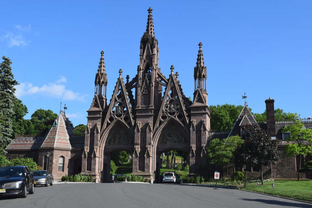 The Green-Wood Cemetery gates.