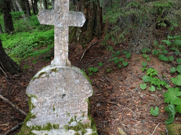 Besides Atka villagers, many others are buried in the Killisnoo cemetery. (Photo by Lisa Phu/KTOO)