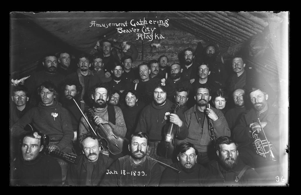 Amusement Gathering, Beaver City, Alaska, Jan. 18, 1899.  Image credit: Jasper Wyman/Anchorage Museum