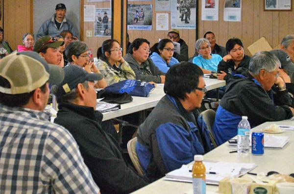 DNR Meeting in Teller. (Photo: Anna Rose MacArthur, KNOM)
