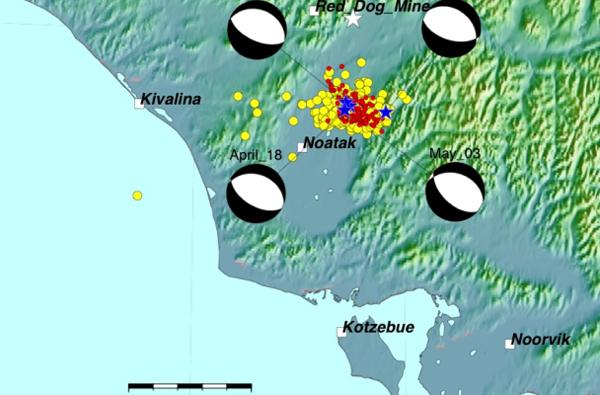 A fifth 5.7 magnitude quake rocks Brooks Range near Noatak. (Image: Alaska Earthquake Center)