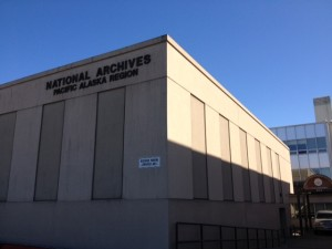 The National Archives building in downtown Anchorage