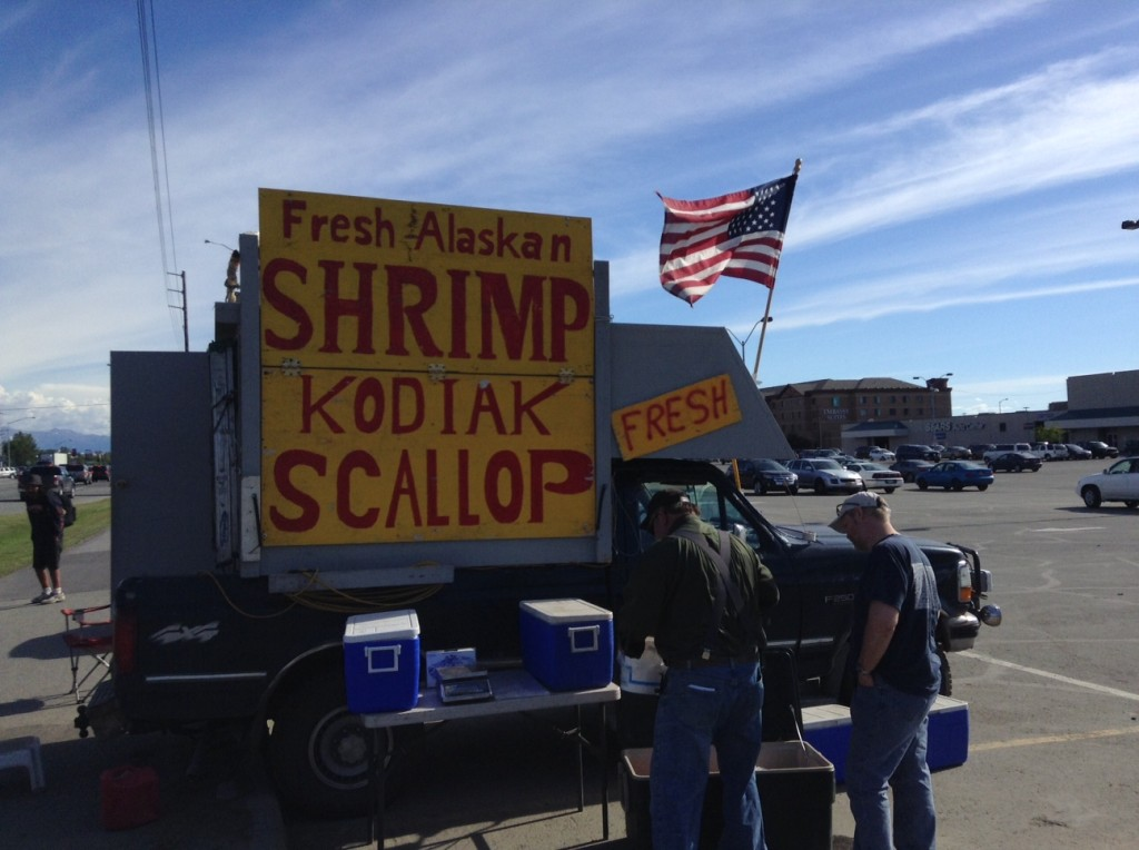 "The ""Alaskan Shrimp Truck"" seen here in Anchorage."