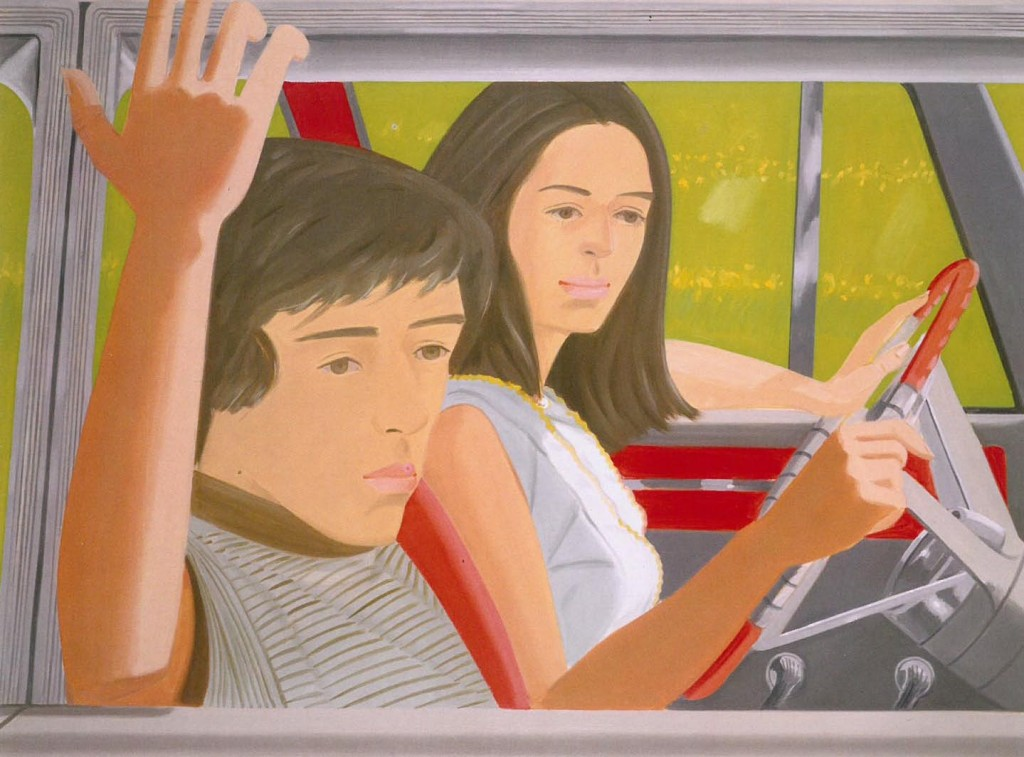 Alex Katz, Ada and Vincent in the Car (1972).