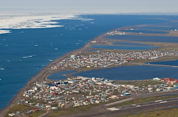 Barrow, AK during spring ice break-up. (Photo by Steven Kazlowsk)