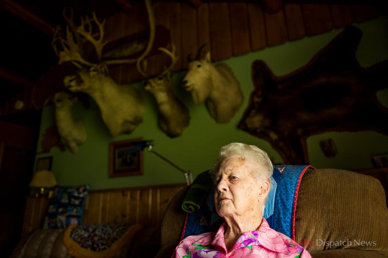 Margaret Lucas, born February 14, 1914 in Denver, Colorado. Photographed in her Palmer, Alaska home on July 16, 2014.