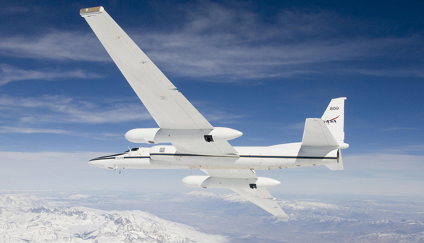 NASA is flying two Airborne Science ER-2 aircraft out of Fairbanks to test equipment to be used to monitor Arctic sea ice. (Credit NASA)