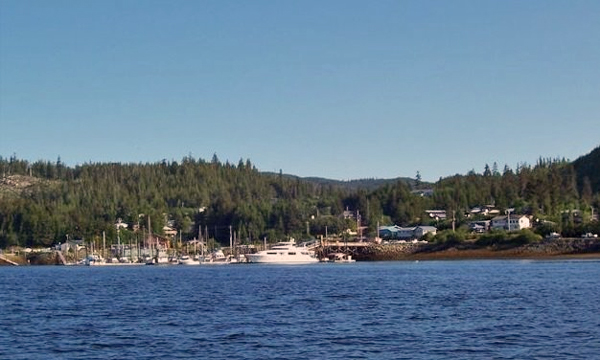 A view of Thorne Bay from the ocean. (Photo from the City of Thorne Bay website)