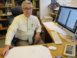 Dr. Oliver Korshin in his office in east Anchorage. Photo by Annie Feidt.
