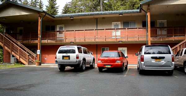 The Black Bear Apartments in the Mendenhall Valley is one of two youth transitional living complexes operated by Juneau Youth Services. (Photo by Sarah Yu/360 North)