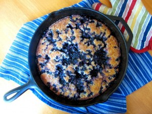 Forager's Delight: Blueberry Cornmeal Skillet Cake