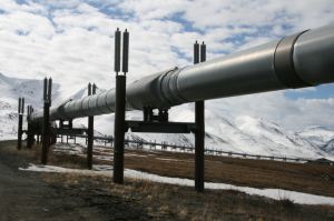 Trans-Alaska Pipeline System. (Photo from the Alaska Department of Natural Resources)