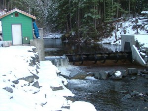 The hydroelectric plant at Falls Creek. (Photo courtesy of Alaska Energy Authority.)