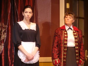 Shellie Riggan as Varya and Yvonne Oliver as Masha