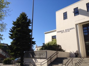 The Federal Building in downtown Anchorage this summer.