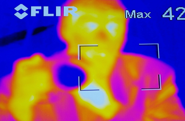 Photo taken with a FLIR thermal imaging camera. (Photo credit: Bernard Rose via Flickr Creative Commons)