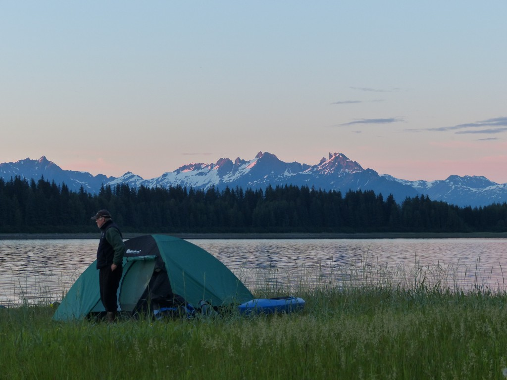 Nelson and Lentfer spent up to ten days at a time camped out in the park. (Photo by Debbie Miller)