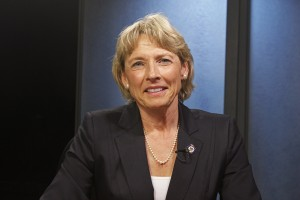Cathy Giessel is a candidate for Senate District N. (Photo by Josh Edge, APRN - Anchorage)
