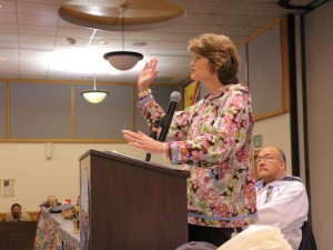Lisa Murkowski addressed the 50th Annual AVCP Convention in Bethel Tuesday. Photo by Dean Swope