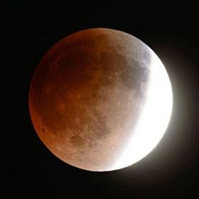 Tonight's total lunar eclipse is expected to peak just before 3 a.m. Wednesday. Credit earthsky.org