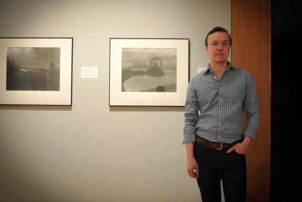 This year's winner of the Juror's Choice Prize is Cody Swanson. It was his first time getting works into the show.  Photo: Zachariah Hughes, KSKA.