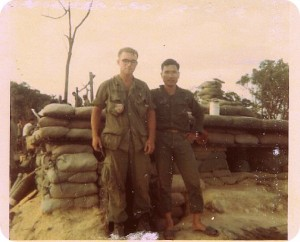 Sam Bunge and ARVN LT in Vietnam in 1969. Photo courtesy of Sam Bunge