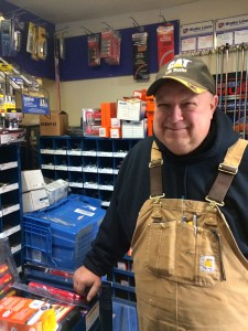 The morning after a major storm passed over Unalaska, mechanic Dale Miller stopped into CarQuest auto supply. (Lauren Rosenthal/KUCB)