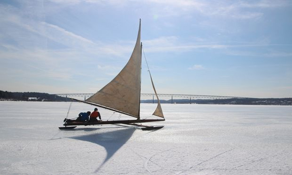 An Ice Yacht on the Hudson River. (Photo Courtesy of Isaac Kestenbaum)