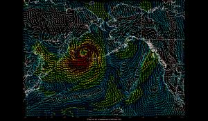 Massive Typhoon Bears Down on Aleutian Islands