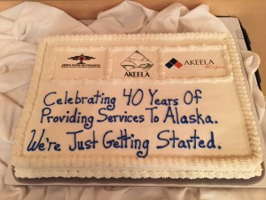 Akeela's celebration cake for their 40th anniversary. Hillman/KSKA