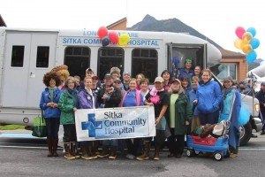 Hospital staffers participate in the Alaska Day Parade. (SCH photo)