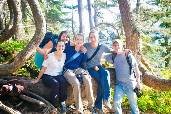 SAGA AmeriCorps volunteer Maia Wolf (second from right) poses with other AmeriCorps members last year. (Photo courtesy Maia Wolf)