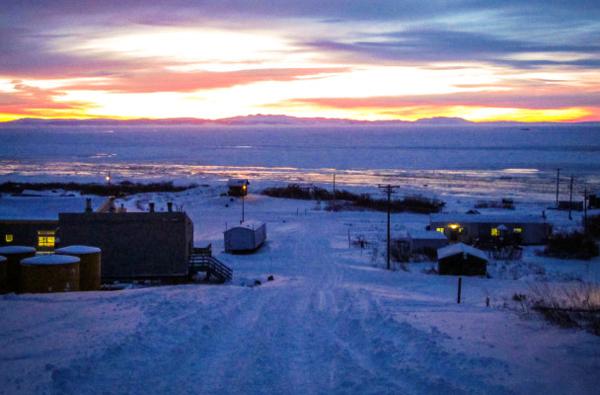 Winter in Koyuk. Photo: KNOM file.