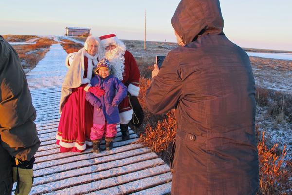 Operation Santa Claus traveled to Newtok, AK on December 4, 2014. (Photo by Ben Matheson / KYUK)