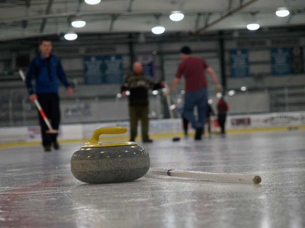 Curling stone. (Photo by Shady Grove Oliver, KBBI - Homer)