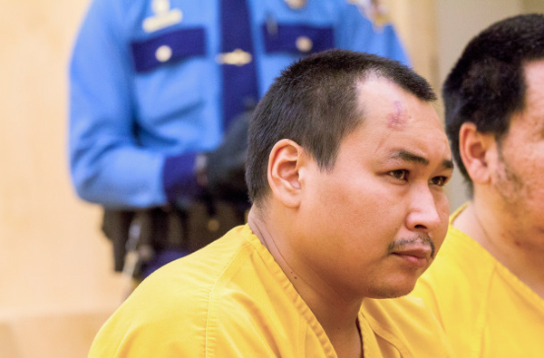 Gilbert Olanna, Jr. was arraigned in the Nome court Saturday, facing a first-degree murder charge in the death of Esther Lincoln. (Photo: Matthew F. Smith, KNOM)