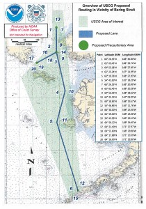 Click to enlarge this chart of proposed traffic lanes through the Bering Sea. More detailed charts of particular segments can be found at the comment link at the bottom of this page.