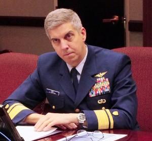 Rear Admiral Daniel Abel, commander of the U.S. Coast Guard's 17th District. (Photo by Matt Miller/KTOO)