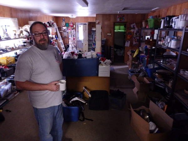 Haines Salvation Army corps officer Dave Kyle stands in a room where he lets people sleep if they're in need of temporary shelter.