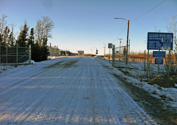 Delta's landfill got nearly a third less trash – and revenue – in 2014 than city officials were expecting. (Photo by Tim Ellis, KUAC - Fairbanks)