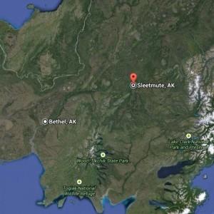 (Google map image – Sleetmute)