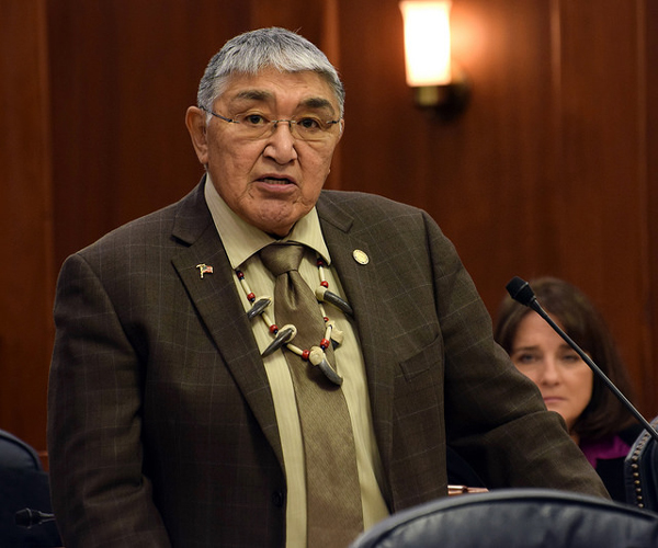Rep. Benjamin Nageak addresses the Alaska House of Representatives. He's eight votes behind Dean Westlake in the HD 40 race. Photo by Skip Gray/360 North)