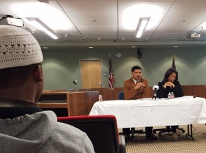 Dr. Allia Carter and author Omar Tyree speak about helping young men of color succeed. Hillman/KSKA