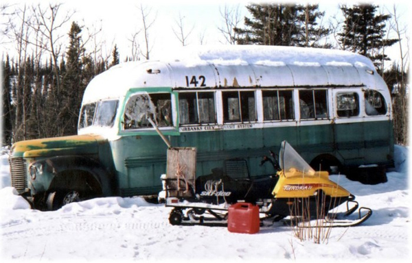 "The old Fairbanks city bus made famous by ""Into the Wild"" has become one the Stampede's favorite attractions. (Credit Friends of the Stampede)"
