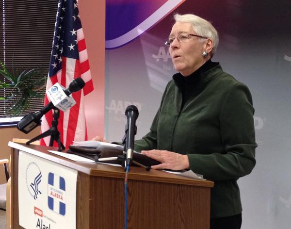 HHS region 10 director Susan Johnson. (Photo by Annie Feidt, APRN - Anchorage)