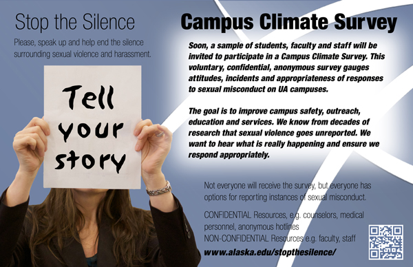 University of Alaska has this flier about the survey. (Courtesy University of Alaska)