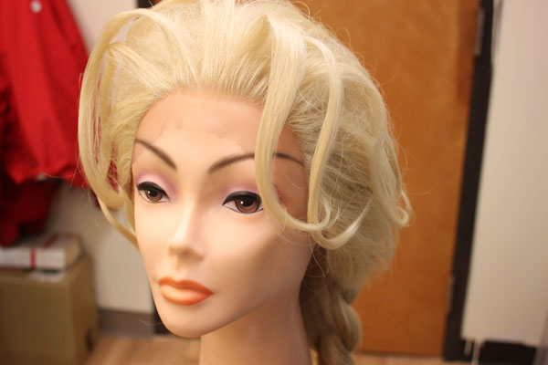 James Hoagland has made nine Elsa wigs. He says the drag queen business is very tied to pop culture. (Photo by Lisa Phu/KTOO)